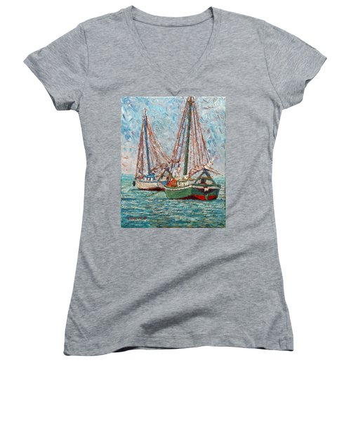 Twin Boats Women's V-Neck (Athletic Fit)