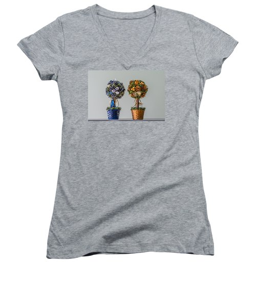 Twin Trees Women's V-Neck