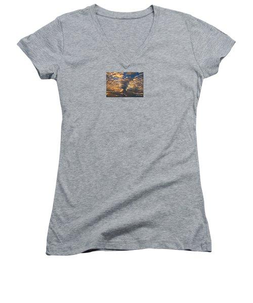 Twisted Sunset Women's V-Neck T-Shirt