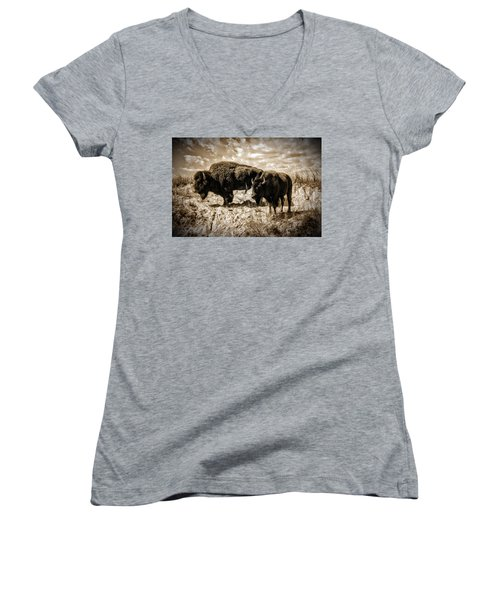 Two Buffalo Women's V-Neck T-Shirt