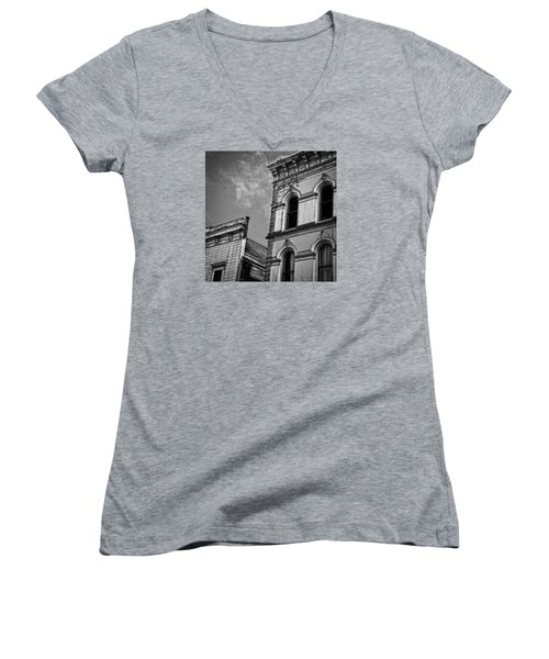 Two Facades Women's V-Neck T-Shirt (Junior Cut) by Mark Alder