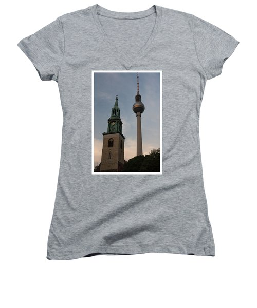 Two Towers In Berlin Women's V-Neck