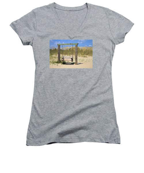 Tybee Island Swing Women's V-Neck T-Shirt