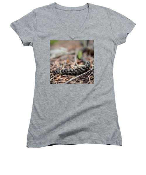 Unbound Women's V-Neck T-Shirt (Junior Cut) by Aaron Aldrich