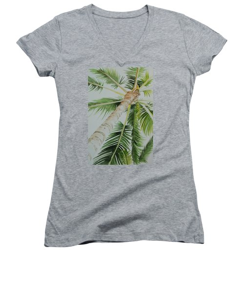Under The Palm Women's V-Neck (Athletic Fit)