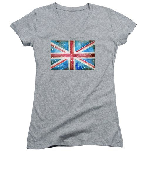 Union Jack Women's V-Neck (Athletic Fit)
