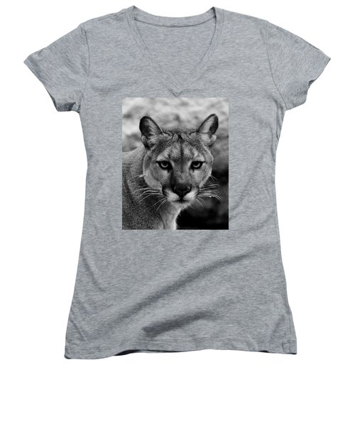 Untamed Women's V-Neck T-Shirt (Junior Cut) by Swank Photography