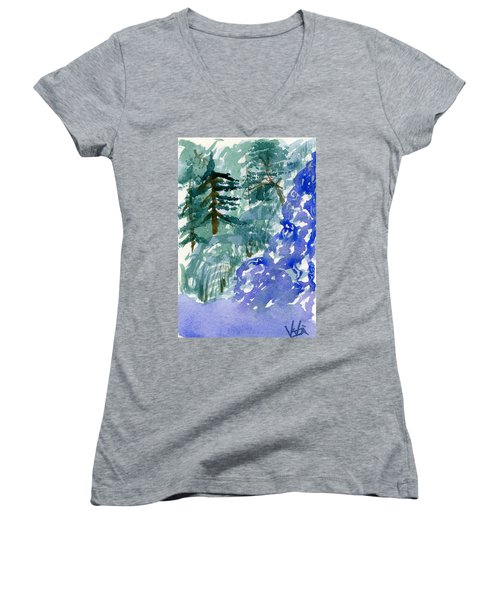 Up The Creek Women's V-Neck T-Shirt
