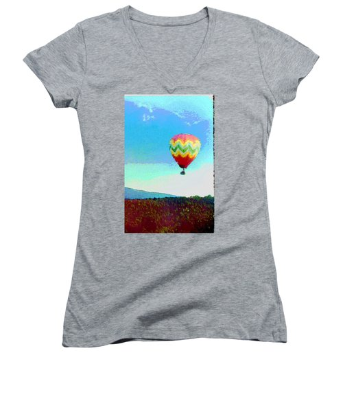 Up Up And Away Women's V-Neck