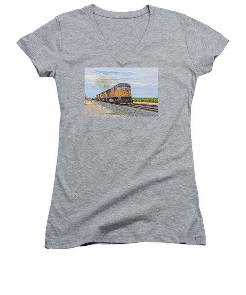 Up4421 Women's V-Neck T-Shirt