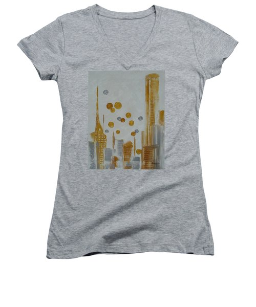 Urban Polish Women's V-Neck T-Shirt (Junior Cut) by Judith Rhue