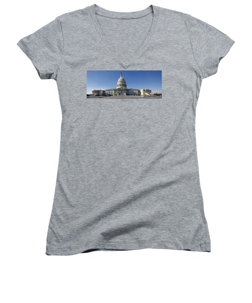 Us Capitol Panorama Women's V-Neck