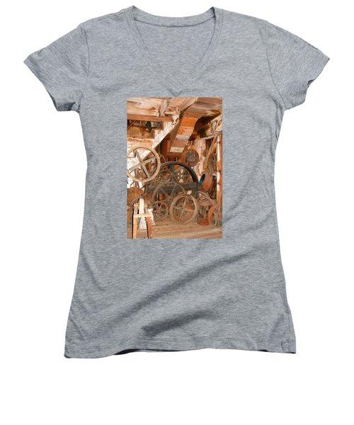 Used Parts As Art  Women's V-Neck T-Shirt (Junior Cut) by Brooks Garten Hauschild