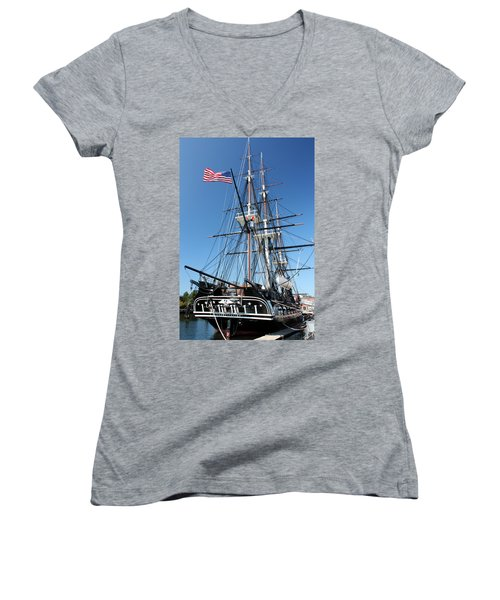 Uss Constitution Women's V-Neck (Athletic Fit)