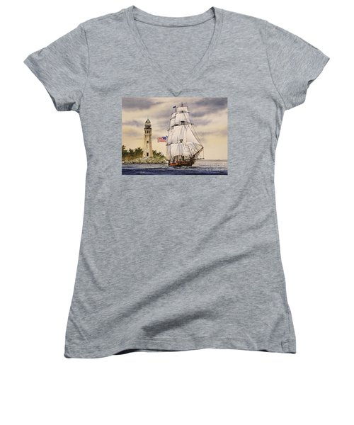 Uss Niagara Women's V-Neck (Athletic Fit)