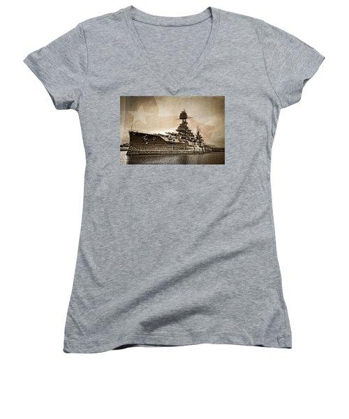 U.s.s. Texas Women's V-Neck T-Shirt