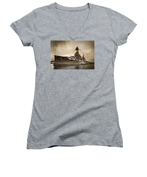 U.s.s. Texas Women's V-Neck (Athletic Fit)
