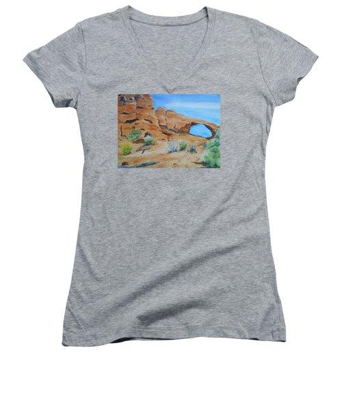 Utah - Arches National Park Women's V-Neck T-Shirt