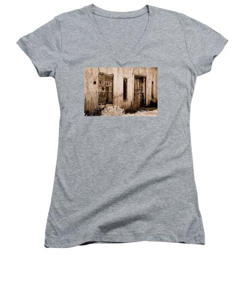 Vacancy Women's V-Neck T-Shirt (Junior Cut) by Holly Blunkall
