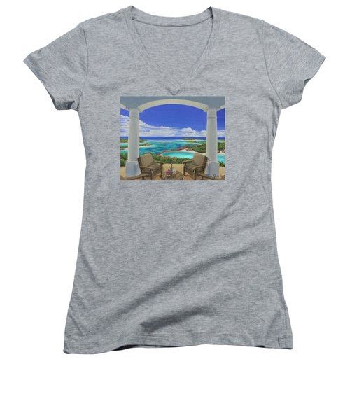 Vacation View Women's V-Neck T-Shirt