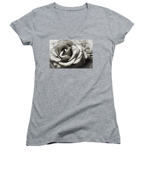 Valentine Rose Women's V-Neck (Athletic Fit)