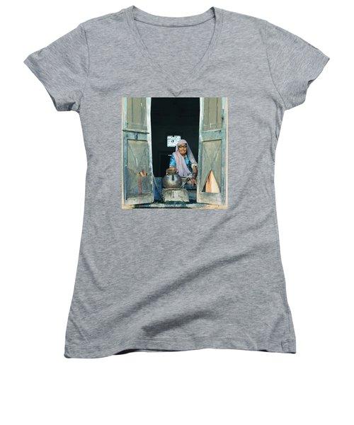 Varanasi Water Seller Women's V-Neck T-Shirt