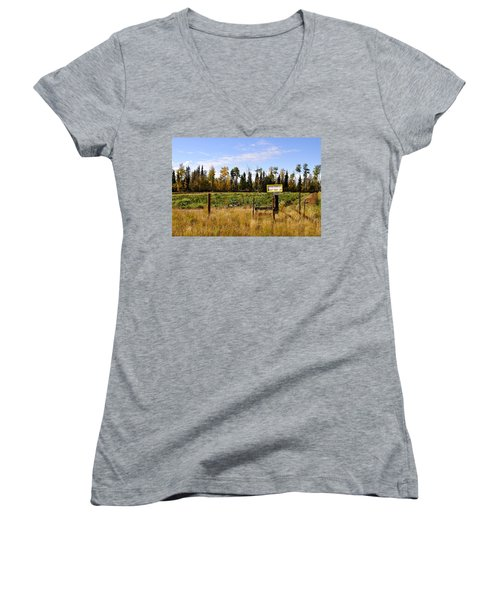 Women's V-Neck T-Shirt (Junior Cut) featuring the photograph Vegetables For Sale by Cathy Mahnke
