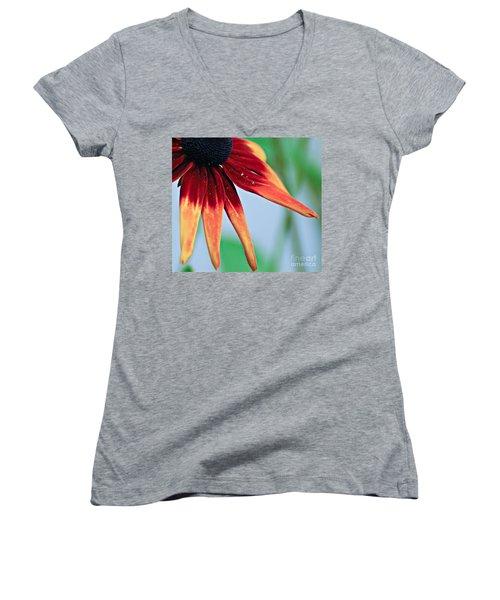 Velvet Petals Women's V-Neck T-Shirt (Junior Cut) by Kerri Farley
