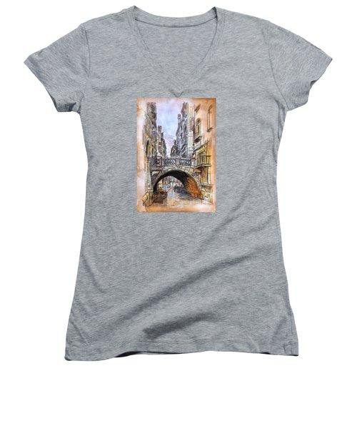 Venice 2 Women's V-Neck T-Shirt (Junior Cut) by Andrzej Szczerski
