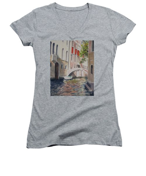 Venice 2000 Women's V-Neck T-Shirt (Junior Cut)