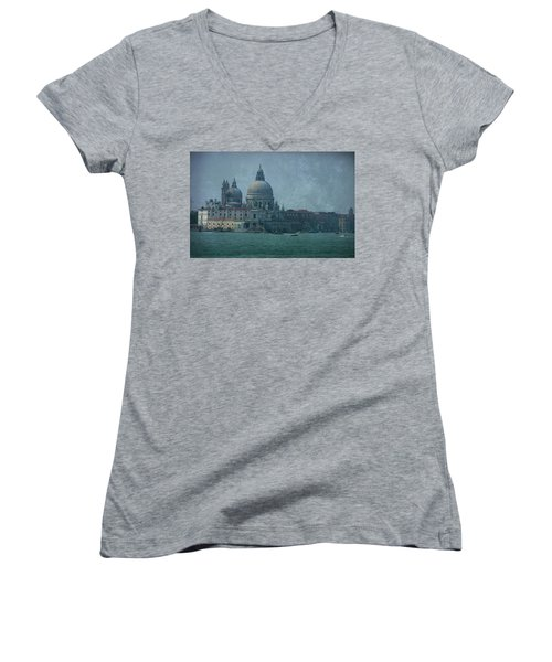 Women's V-Neck T-Shirt (Junior Cut) featuring the photograph Venice Italy 1 by Brian Reaves