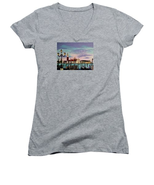 Venice  Italy By Jasna Gopic Women's V-Neck (Athletic Fit)