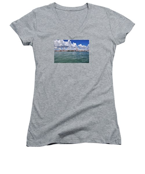 Venice Women's V-Neck T-Shirt (Junior Cut) by Simona Ghidini