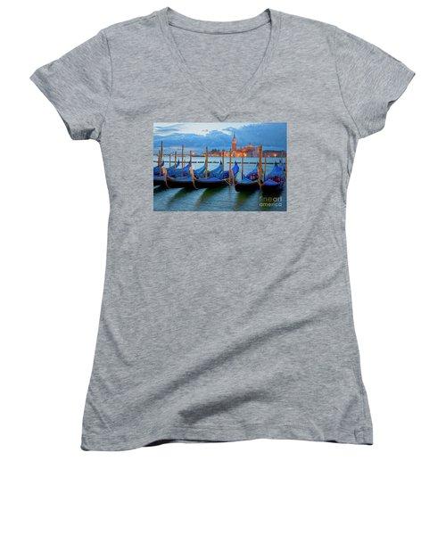 Venice View To San Giorgio Maggiore Women's V-Neck T-Shirt