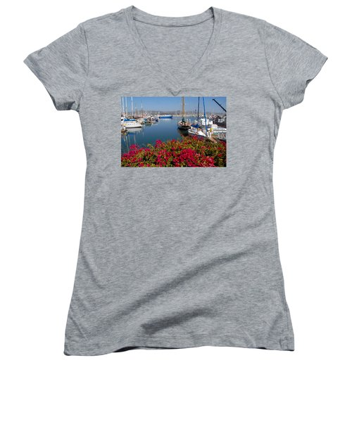 Ventura Harbor Women's V-Neck T-Shirt