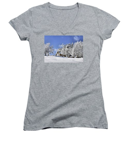 Vermont Winter Beauty Women's V-Neck