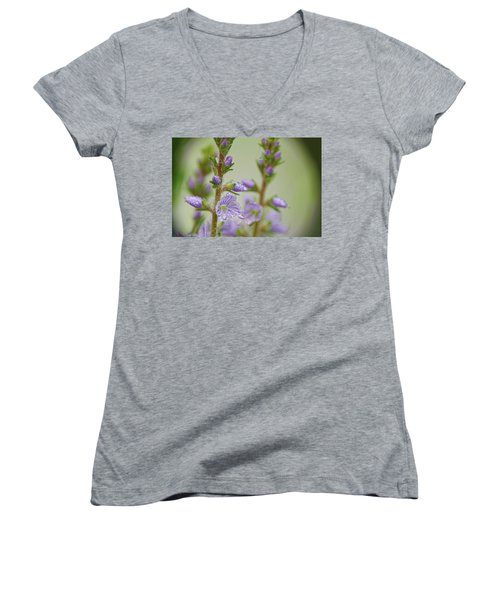 Women's V-Neck T-Shirt (Junior Cut) featuring the photograph Veronica's Tears by Peggy Collins