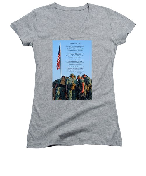 Veterans Remember Women's V-Neck (Athletic Fit)