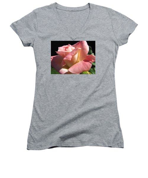 Women's V-Neck T-Shirt (Junior Cut) featuring the photograph Victorian Beauty by Jennifer Wheatley Wolf