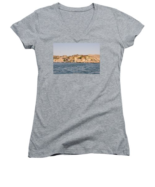 View From Boat Women's V-Neck T-Shirt