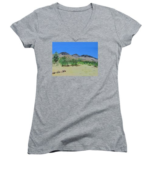 View From Sharon's House - Mojave Women's V-Neck