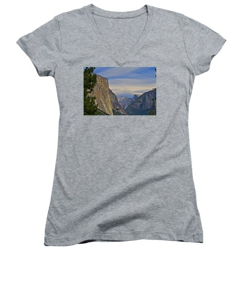 View From Wawona Tunnel Women's V-Neck