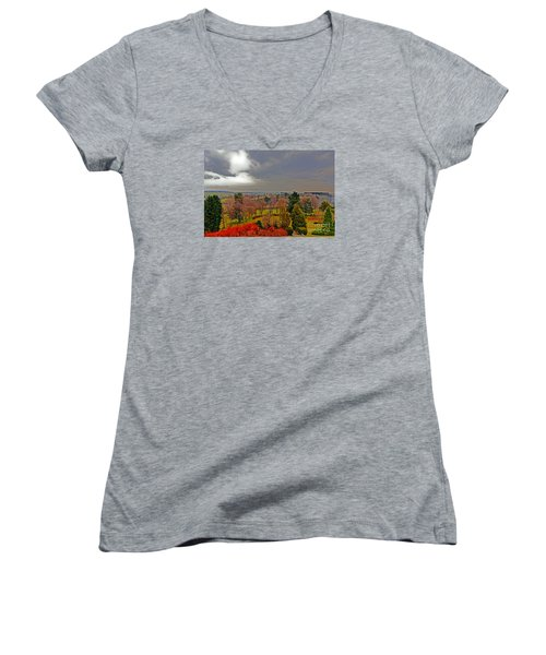 View Of Belgium Women's V-Neck T-Shirt