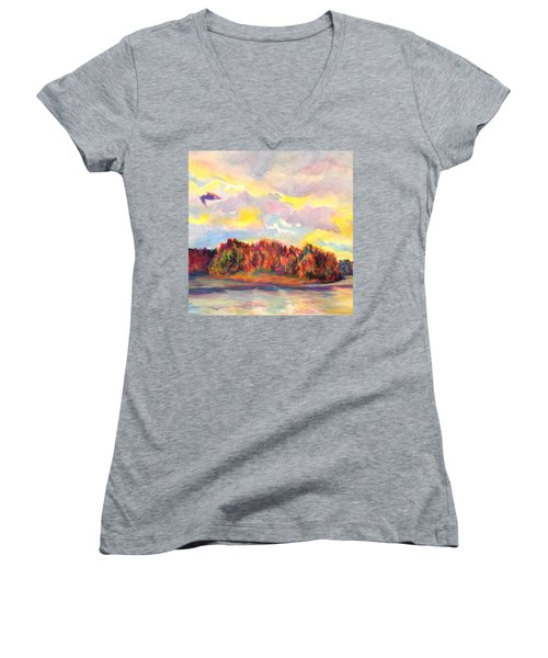 View Of Goat Island Women's V-Neck