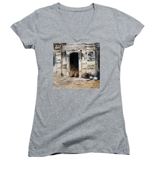 Vigan Door Women's V-Neck T-Shirt (Junior Cut) by Joey Agbayani