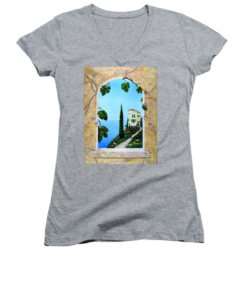 Villa By The Sea Women's V-Neck