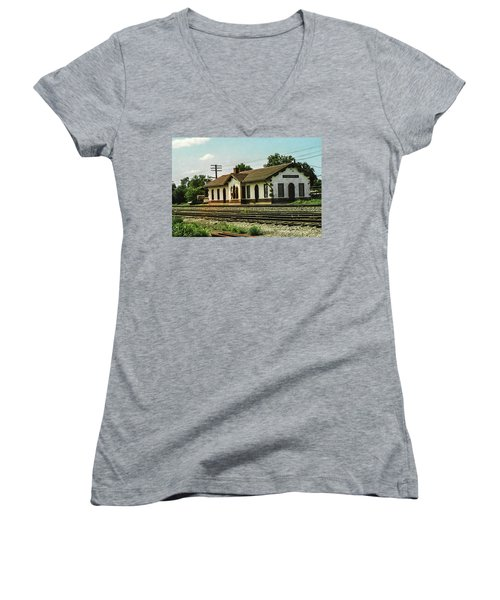 Villisca Train Depot Women's V-Neck (Athletic Fit)