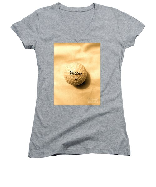 Vintage Golf Ball Women's V-Neck (Athletic Fit)