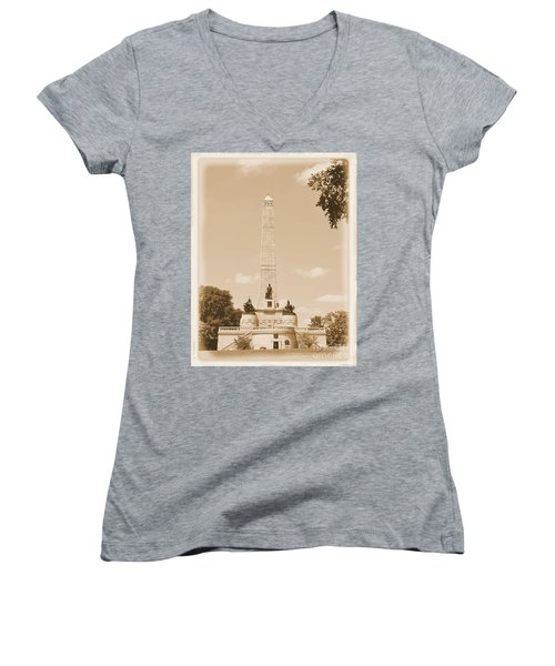 Vintage Lincoln's Tomb Women's V-Neck (Athletic Fit)