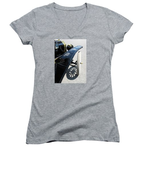 Vintage Model T Women's V-Neck T-Shirt (Junior Cut) by Ann Horn